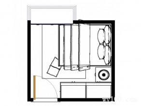 现代卧室效果图 8�O色彩氛围较沉稳淡雅_维意定制家具商城