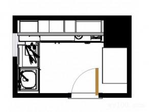 L型橱柜厨房效果图 5�O色调清新明亮_维意定制家具商城