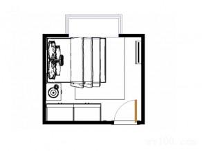 简单实用卧室设计效果图_维意定制家具商城