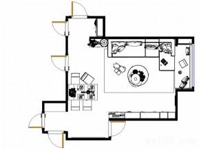 经典黑白客餐厅效果图 45�O榻榻米小书柜结合_维意定制家具商城