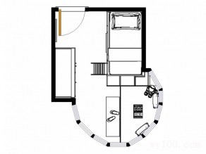 圆形飘窗儿童房设计效果图 4�O奇葩户型玩创意_维意定制家具商城
