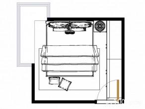 圆弧柜卧室装修效果图 10�O浓郁的田园乡村气息_维意定制家具商城
