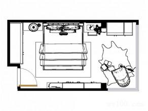 17�O温馨卧室 狭长空间的完美布局_维意定制家具商城