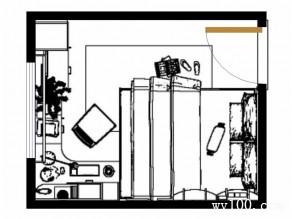 学区房效果图 8�O完美搭配_维意定制家具商城