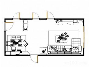 金色背景墙客餐厅效果图 31�O厚重高端的感觉_维意定制家具商城