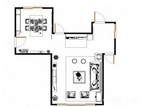 现代中式客餐厅效果图 38�O整体明快简约_维意定制家具商城