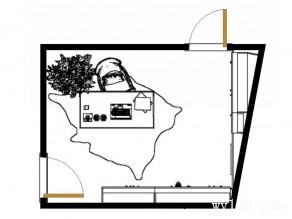 风水书房效果图 7�O整体摆放整齐大方_维意定制家具商城