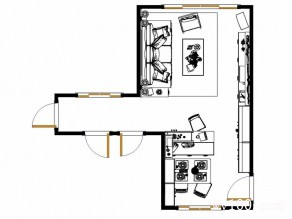 田园客餐厅效果图 23�O让空间充满乡村气息_维意定制家具商城