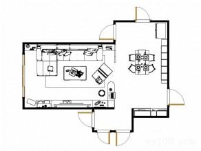 客厅餐厅一体吊顶设计效果图_维意定制家具商城