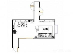 吧台隔断客餐厅效果图 34�O电视柜与吊柜组合_维意定制家具商城