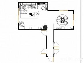 客餐厅吊顶效果图 82�O空间多了一份艺术性_维意定制家具商城