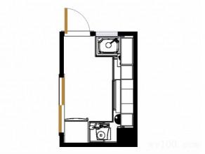 T字形厨房设计 黑色玻璃增强时尚感_维意定制家具商城