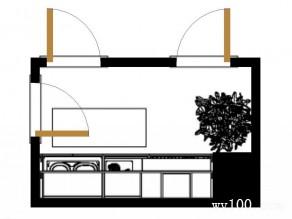 一字型厨房效果图 7平开放吊柜方便了空间_维意定制家具商城