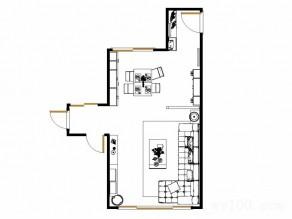 隔断客餐厅效果图 50平让空间保持一定的通透度_维意定制家具商城
