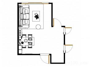 田园客餐厅效果图 15平置身于缤纷世界_维意定制家具商城
