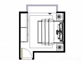 欧式简约卧房效果图 11�O采用特有造型面板_维意定制家具商城