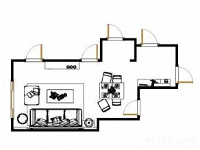 客餐厅效果图 大空间巧搭配_维意定制家具商城