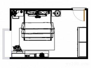 大衣柜卧房效果图  15�O电视柜配上书桌简约时尚_维意定制家具商城