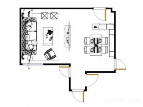 奢华客餐厅效果图 27�O黑白经典风格_维意定制家具商城