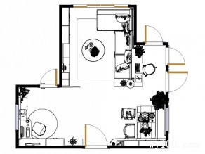 客餐厅与书房相关联 三大空间结合的舒适之举_维意定制家具商城