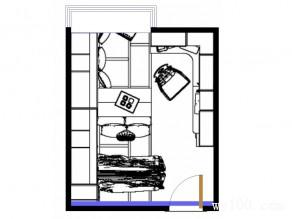 榻榻米卧室效果图 12�O用两个柜隔出两个休闲区_维意定制家具商城