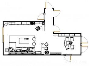 客餐厅隔断吧台设计 休闲新颖舒适三不误_维意定制家具商城