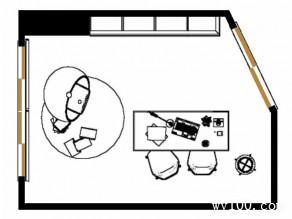 美式书房 高低吊柜和书桌放置使空间充满灵动性_维意定制家具商城