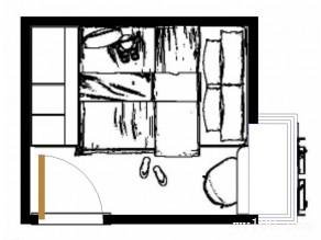 小卧室装修效果图 6�O衣柜与榻榻米结合_维意定制家具商城