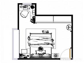 主卧室装修效果图  17�O多功能的空间舒适美好_维意定制家具商城