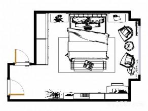 卧室装修效果图 23�O整体空间稳重_维意定制家具商城