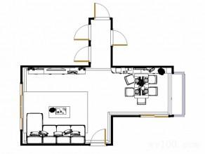 客餐厅装修效果图 45�O凸显出现代简欧_维意定制家具商城