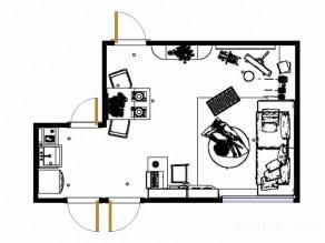 现代简约客餐厅 储物柜加吊柜再拼搭书桌连贯实用_维意定制家具商城