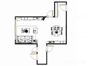 客餐厅装修效果图 24�O餐厅设计餐边柜_维意定制家具商城