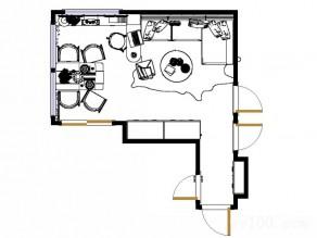欧式客餐厅效果图 隔断吧台分割空间显和谐_维意定制家具商城