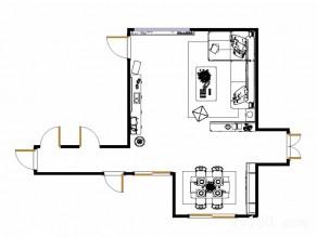 现代简约客餐厅 雅致色调突出空间明亮清新_维意定制家具商城
