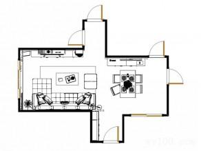 欧式客餐厅 餐桌餐柜设计给人大气实用感_维意定制家具商城
