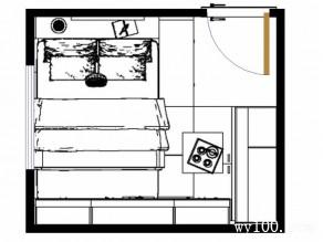 卧室装修效果图 10�O整体空间稳重_维意定制家具商城
