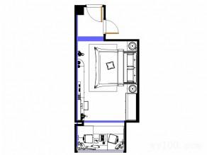现代简约卧室 合理的柜体布局使空间更彰显大气之感_维意定制家具商城