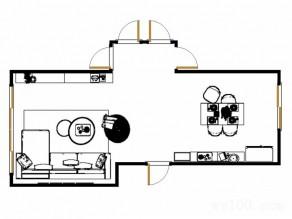简约列客餐厅效果图 49�O加强了空间的储物性_维意定制家具商城