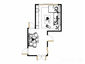 客餐厅装修效果图 27�O回字型柜有效利用空间_维意定制家具商城