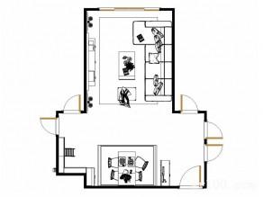 客餐厅装修效果图 55�O简欧氛围浓厚_维意定制家具商城