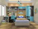 多功能壁柜儿童房 超强收纳_维意定制家具商城