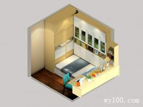 书房设计效果图   6�O虽小应有尽有_维意定制家具商城