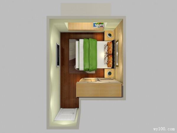 飘窗装修效果图  14�O温馨有朝气卧室_维意定制家具商城