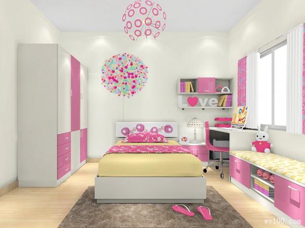 现代简约儿童房 粉色的诱惑_维意定制家具商城