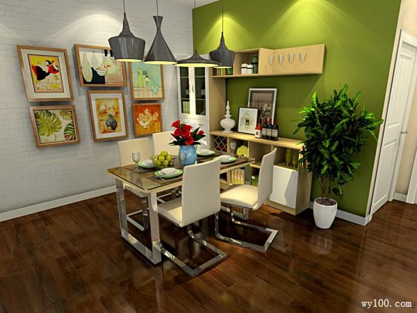餐厅背景墙效果图  35�O上班族的梦想家_维意定制家具商城