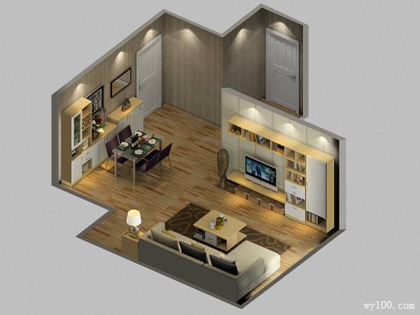 四口之家客餐厅 35平布局紧凑又温馨_维意定制家具商城