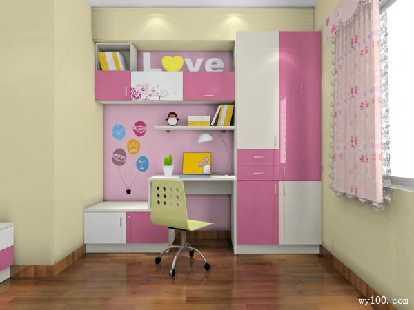 欧式简约儿童房 9平构思出小女孩心思_维意定制家具商城