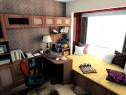 温馨舒适书房 9�O咖啡物语_维意定制家具商城