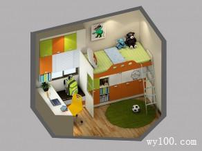 小户型儿童房效果图 6�O小空间欢乐多_维意定制家具商城